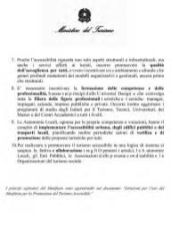 immagine Libro Bianco sul turismo per tutti in Italia - Italia accessibile alle persone con disabilità