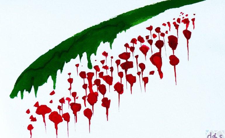 La mostra sul tema del 25 Aprile con disegni realizzati dalle classi quarte del liceo artistico Nani-Boccioni, esposti in piazza Bra Verona, a due passi dal monumento del partigiano
