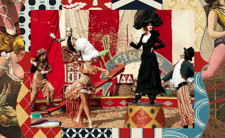 vintage circus collage