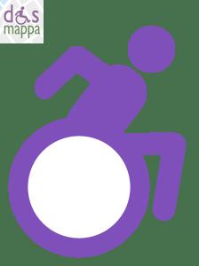 La rivisitazione disMappa dell'icona dinamica accessibilità disabili
