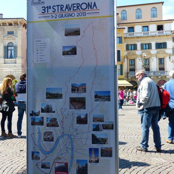 Mappa Verona 31ª Straverona Manifestazione podistica non competitiva, 1 e 2 giugno 2013