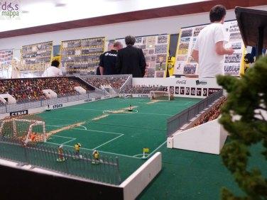modellino del vecchio stadio bentegodi di verona alla mostra 110 anni di storia dell'Hellas Verona