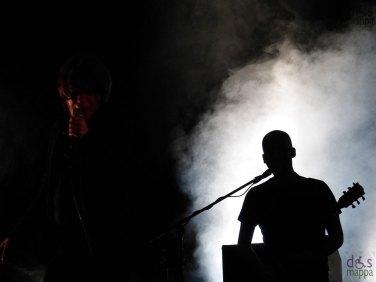 Il concerto del Teatro degli orrori (Pierpaolo Capovilla Gionata Mirai, Francesco -Franz- Valente, Tommaso Mantelli, e Nicola Manzan) nella prima serata di Rumors Festival al Teatro Romano di Verona.