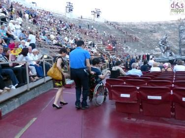 disabile carrozzina Prima della prima al Festival del Centenario: Il Trovatore, 7 luglio 2013, Arena di Verona