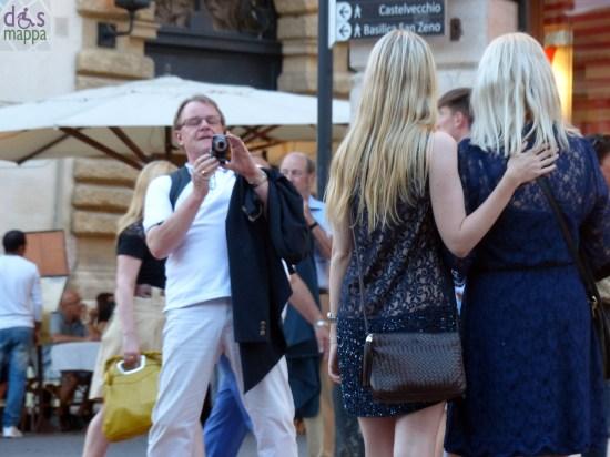 fotografia signore bionde Prima della prima al Festival del Centenario: Il Trovatore, 7 luglio 2013, Arena di Verona
