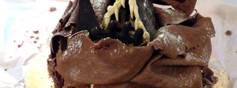 20131223 torta cioccolato casetta natale