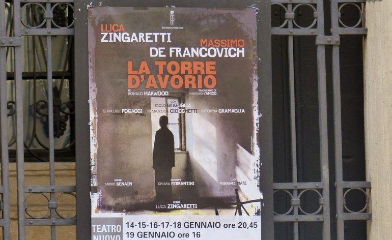 20131227 Manifesto Luca Zingaretti La torre d'avorioTeatro Nuovo Verona