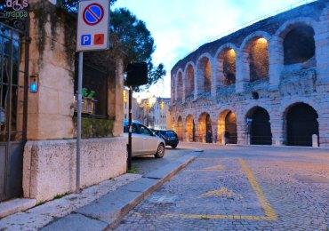 Parcheggi disabili Via Patuzzi Arena Verona