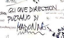 Gli One Direction puzzano di Madonna