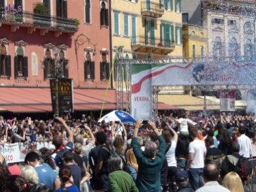 20140504 Wings for life world run Italy partenza Verona
