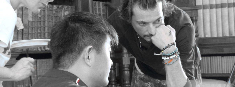 20140513 Liu Bolin Fade in Italy Making of Verona 23