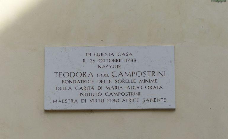 20140525 Targa casa natale Teodora Campostrini Verona