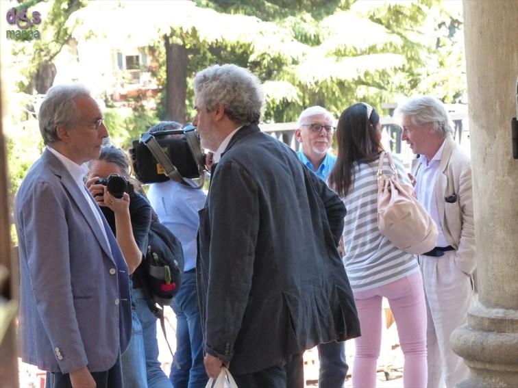 Carlo Cecchi e la compagnia Marche Teatro alla Conferenza stampa del secondo spettacolo del 66° Festival Shakespeariano, La dodicesima notte, che debutta in prima nazionale mercoledì 16 luglio