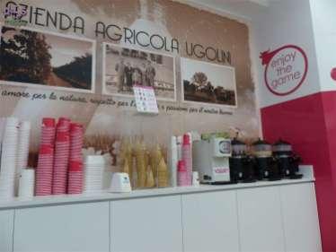 La Gelateria Ugolini in via Pellicciai è tra i pochi negozi di questa via ad avere entrata senza barriere architettoniche, l'ambiente interno è spazioso e facile da girare in carrozzina.