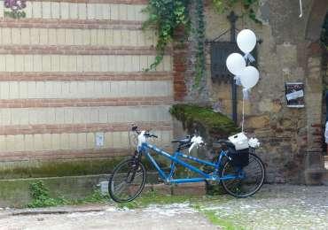20140830 Tandem sposi Tomba Giulietta Verona 2