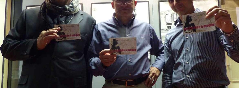 ittorio Rossi, Flavio Castellani e Denis Giusti, autori della fotografie della mostra Presente Passante alla Biblioteca Frinzi, testimoni di accessibilità per dismappa