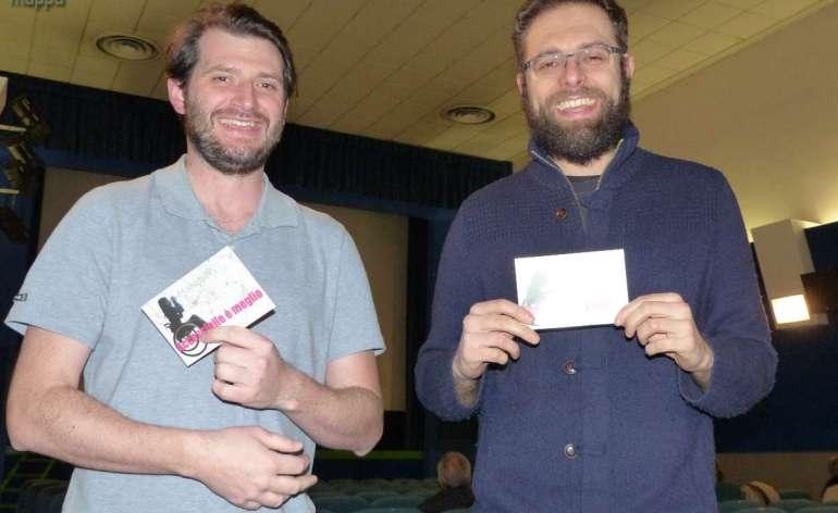 I registi Vieri Brini ed Emanuele Policante, a Verona per presentare il loro documentario sul gioco d'azzardo Rifiutati dalla sorte e dagli uomini, testimoni di accessibilità per dismappa