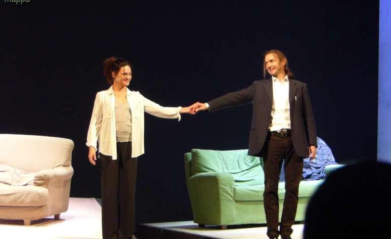 Tanti e meritati applausi per Chiara Caselli e Paolo Valerio al debutto veronese di Le ho mai raccontato del Vento del Nord al Teatro Nuovo di Verona per la rassegna Il Grande Teatro