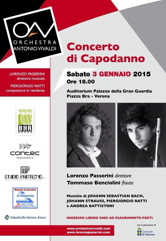 Locandina concerto  3 gennaio