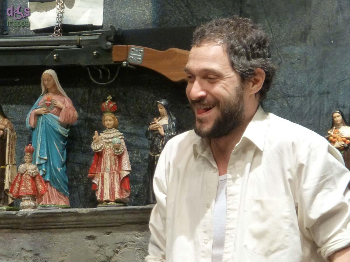 Claudio Santamaria nel 2012 al Teatro Camploy di Verona con Occidente solitario