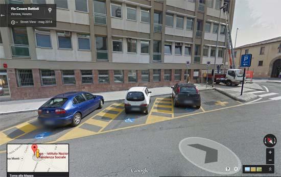 INPS-Verona-parcheggii-disabili