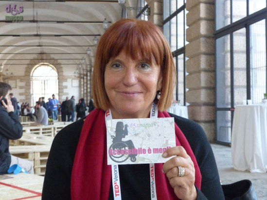 Adriana Musella, Presidente nazionale del Coordinamento Nazionale Antimafia testimone di accessibilità per dismappa