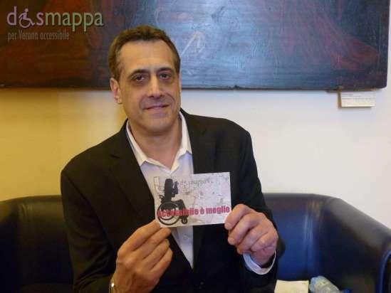 Stuart Milk testimone per dismappa dopo la conferenza stampa del Verona Pride, di cui sarà ospite d'onore