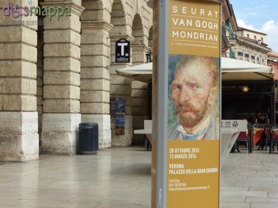 Un'anteprima europea a Verona: la mostra Seurat-Van Gogh-Mondrian. Il post-impressionismo in Europa vedrà esposti 80 capolavori conservati al Kroller Muller Museum (Olanda), tra cui il celeberrimo Autoritratto di Van Gogh, il Port en Bessin di Seurat, la nota Salle à manager di Signac e Composition hit red, yellow and bleu di Mondrian. Il patrimonio del Kröller-Müller sarà esposto a Verona, al Palazzo della Gran Guardia, dal 28 ottobre 2015. Grande spazio sarà dato in mostra anche agli esperimenti scientifici sul colore, ai processi ottico-visuali e alla fotografia, la cui invenzione è legata strettamente alla tecnica divisionista.
