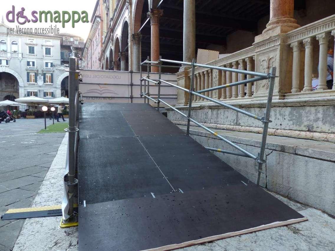 Rampa disabili Loggia di Fra Giocondo LibrarVerona 2015 Piazza dei Signori