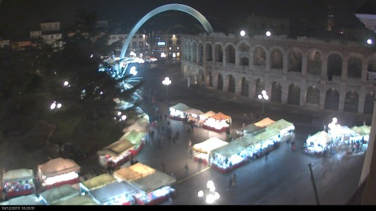 20151210 Bancrelle Santa Lucia Verona webcam