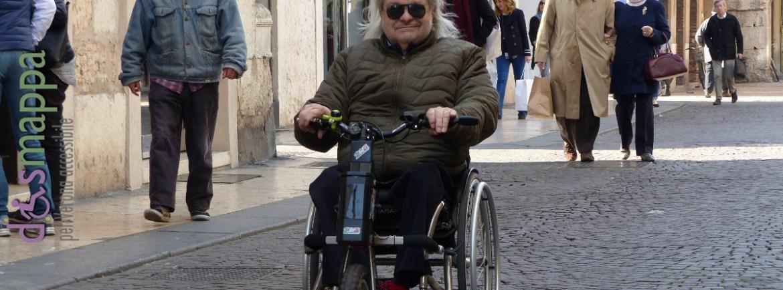 20160323 Disabile carrozzina Corso Porta Borsari Verona dismappa