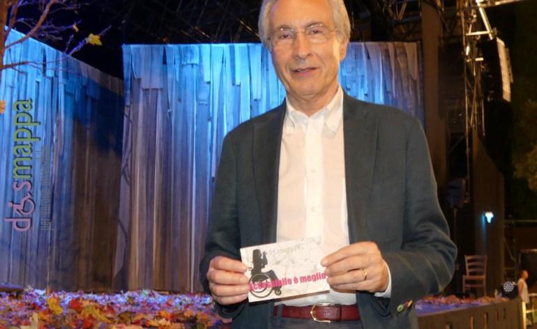 Gianpaolo Savorelli, Direttore artistico dell'Estate Teatrale Veronese, testimone di accessibilità per dismappa dal Teatro Romano di Verona.