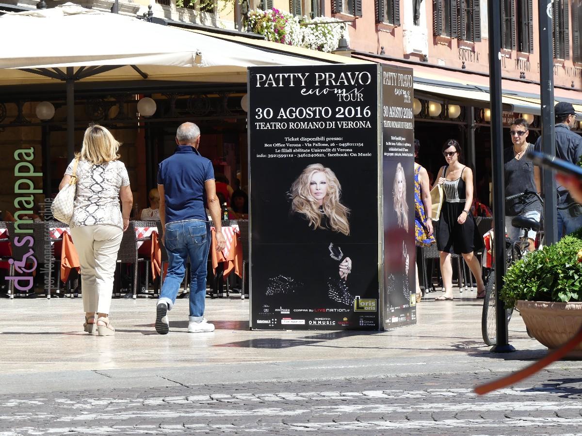 Eccomi Tour manifesto Concerto Patti Pravo Teatro Romano Verona dismappa