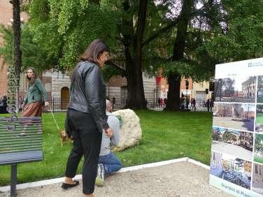 I giardini di Piazza Indipendenza prima e dopo la riqualificazione del 2017