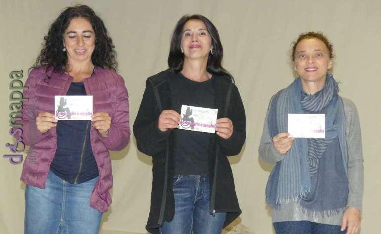 Alessandra D'Elia, Caterina Spadaro e Caterina Pontrandolfo testimoni di accessibilità per dismappa