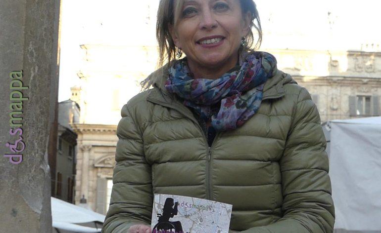 La giornalista Elena Chemello testimone di accessibilità per dismappa dopo la diretta di Buongiorno Regione.