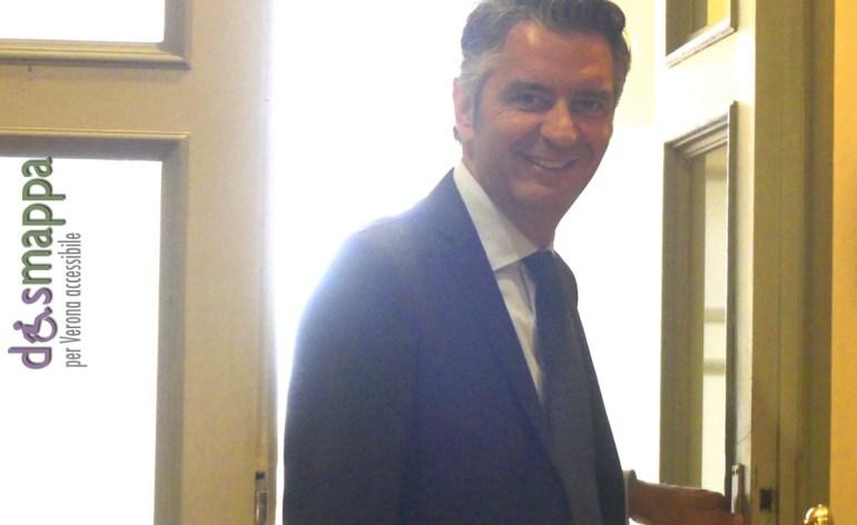 Il sindaco di Verona Federico Sboarina apre le porte di Palazzo Barbieri ai cittadini veronesi