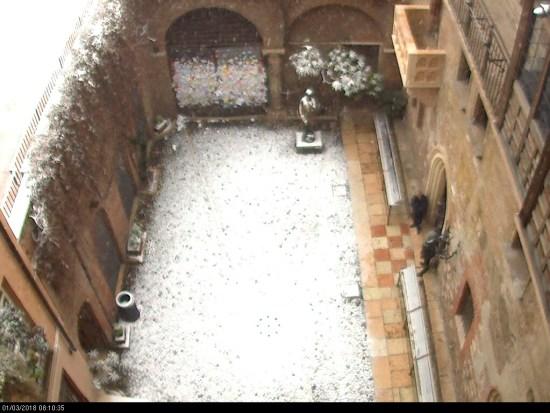 20180301 Neve Verona Casa di Giulietta webcam