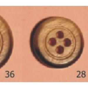 Botón olivo pavonado