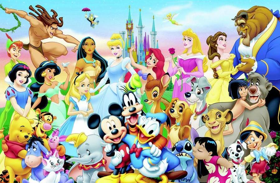 disney character clickable collage
