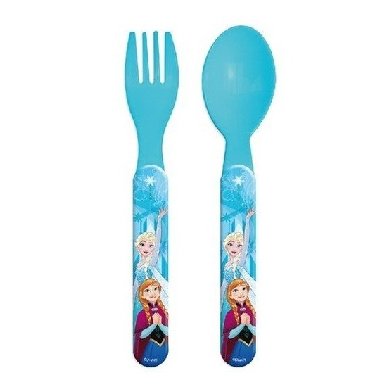 Disney Frozen kinderbestek vork met lepel 14 cm