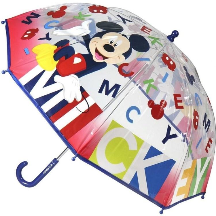 Disney Mickey Mouse Transparante paraplu voor jongens 71 cm