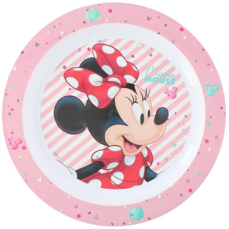 Disney Minnie Mouse ontbijtbordje 22 cm voor kinderen