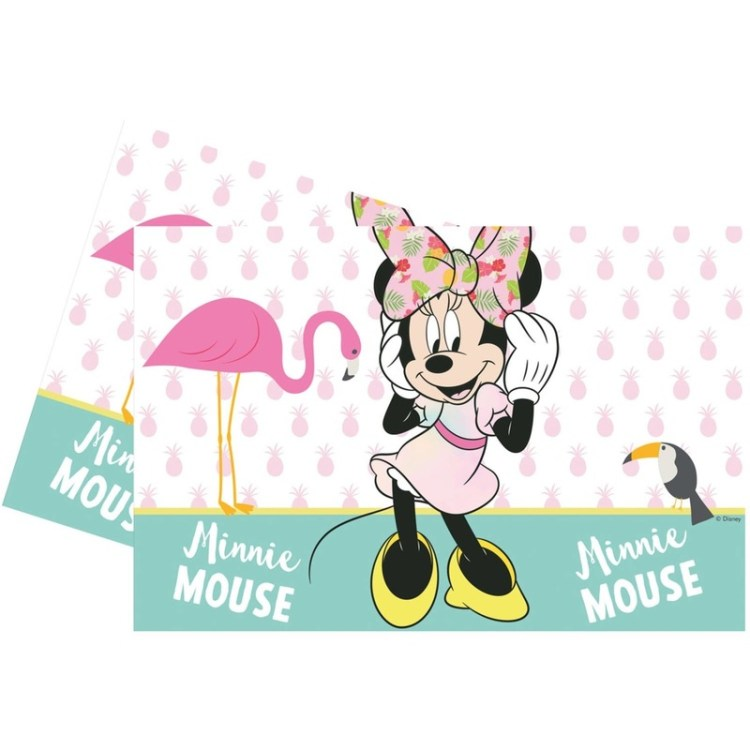 Disney Minnie Mouse tafelkleed/tafelzeil tropical 120 x 180 cm