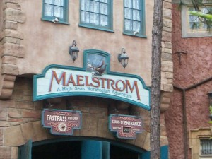 The old Maelstrom ride entrance
