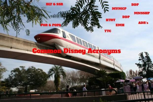 Common Disney Acronyms