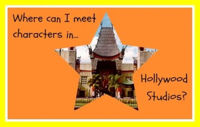 Hollywood Studios Characters