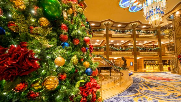 over 170000 individual christmas lights go into decorating disneys cruise lines fleet