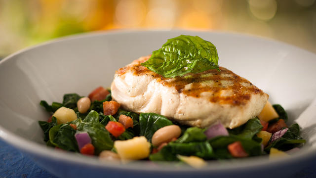 Eating Healthy at Disney World - Chef's Fish of the Day
