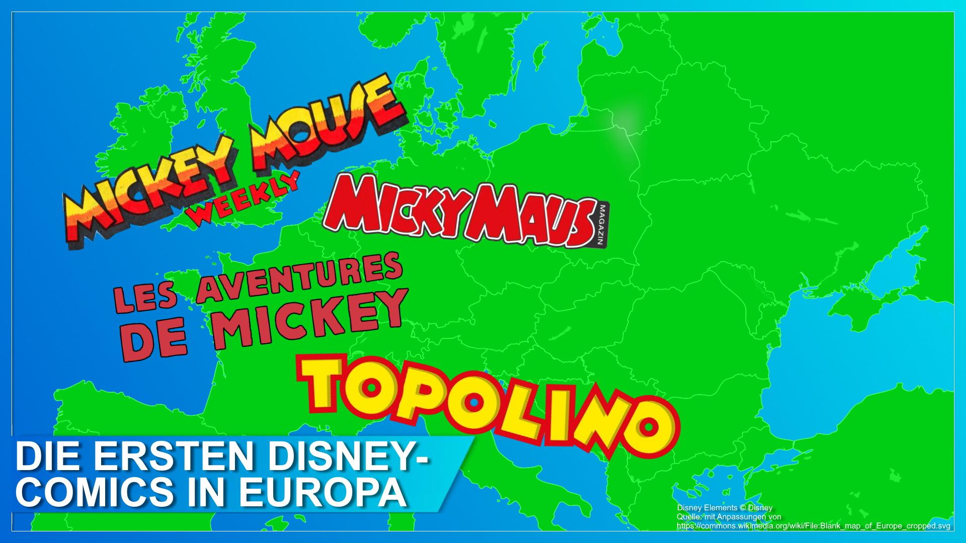 Die ersten Disney-Comics in Europa